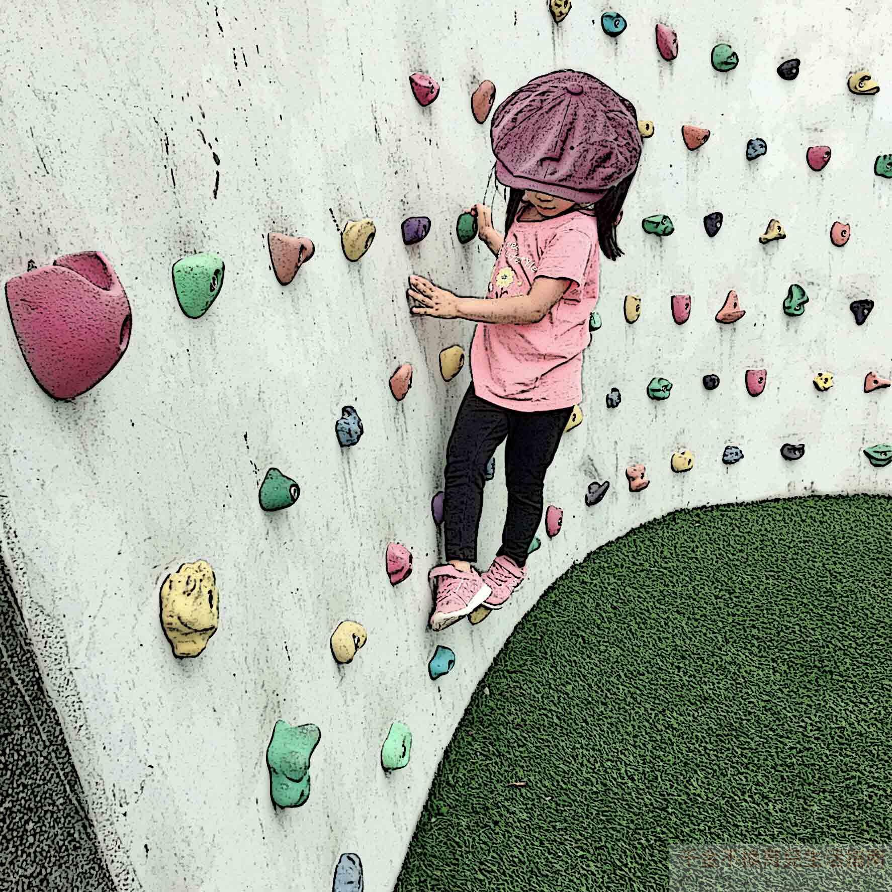 【台北南港親子景點】南港新新公園:戶外攀岩牆、三索吊橋和溜索